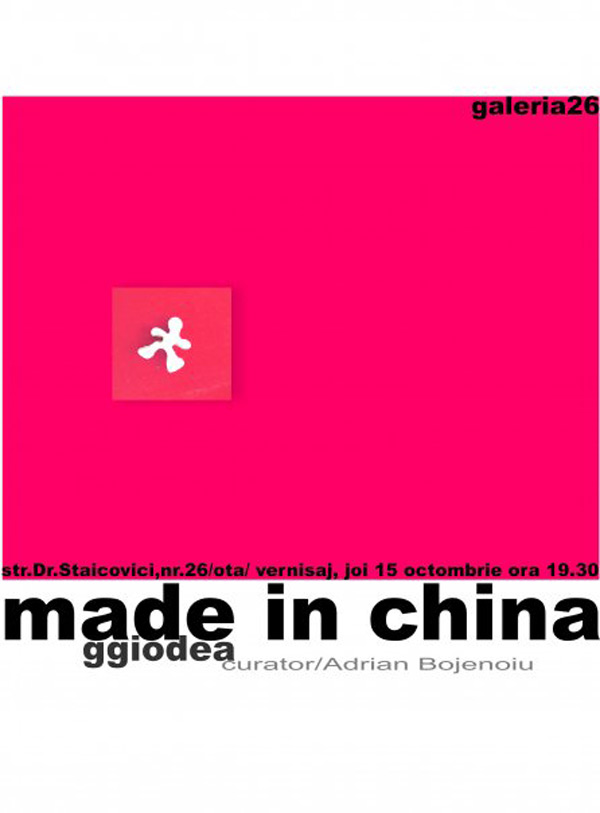 """Instalatie """"Made in China"""" G. Giodea"""