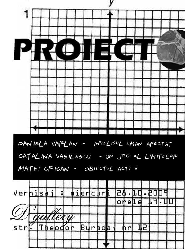 """""""PROIECT"""" @ (d)gallery"""