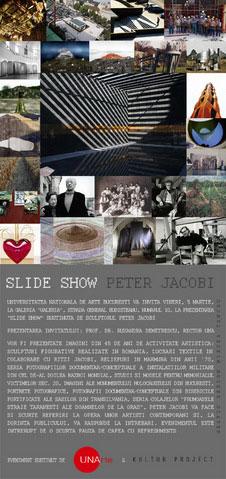 Slide Show Peter Jacobi la UNAgaleria
