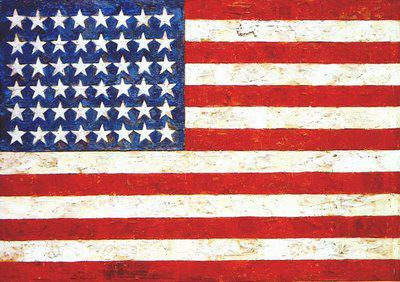 """Record: 28,6 milioane de dolari pentru lucrarea """"Flag"""" de Jasper Johns"""