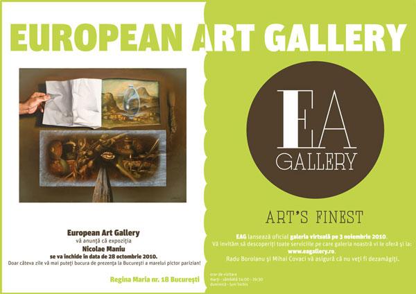 Nicolae Maniu până pe 28 octombrie la European Art Gallery