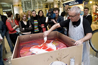 Spin paintings with Damien Hirst