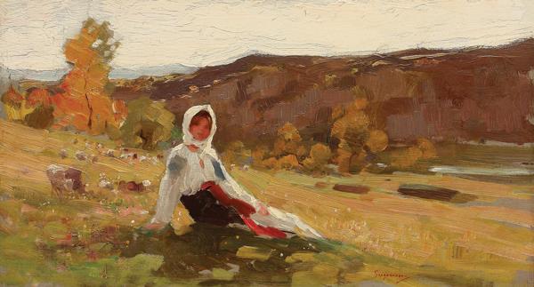 """4.Nicolae Grigorescu, """"Păstoriţă"""", 175.000 de euro, Artmark"""