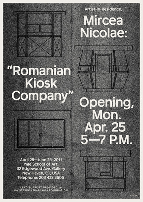 Mircea Nicolae, Romanian Kiosk Company @ Yale School of Art