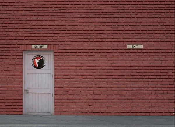 This karate studio has a sense of humor