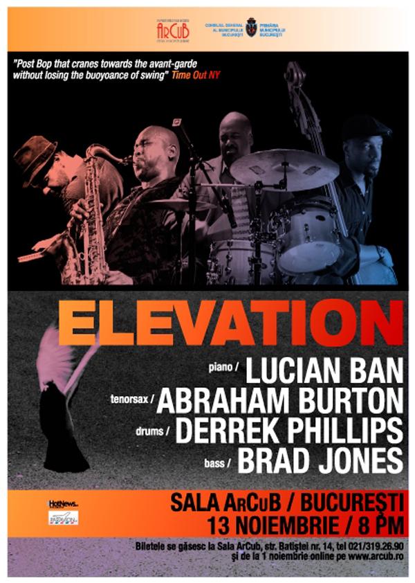 Trupa Elevation din New York ajunge pe scena ArCuB!