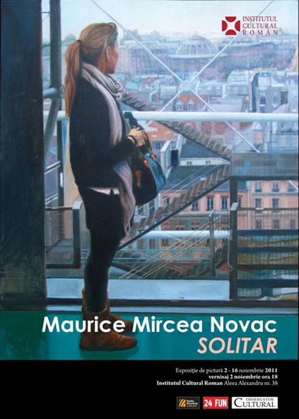 """""""Solitar"""" – pictură de Maurice Mircea Novac la Institutul Cultural Român"""