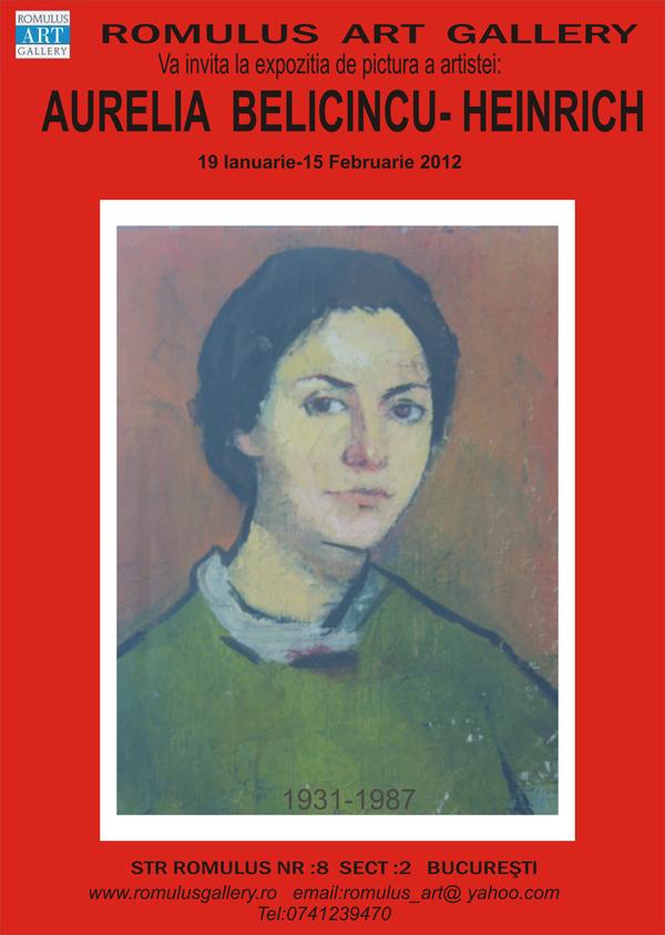Aurelia Belicincu-Heinrich la Romulus Art Gallery, București