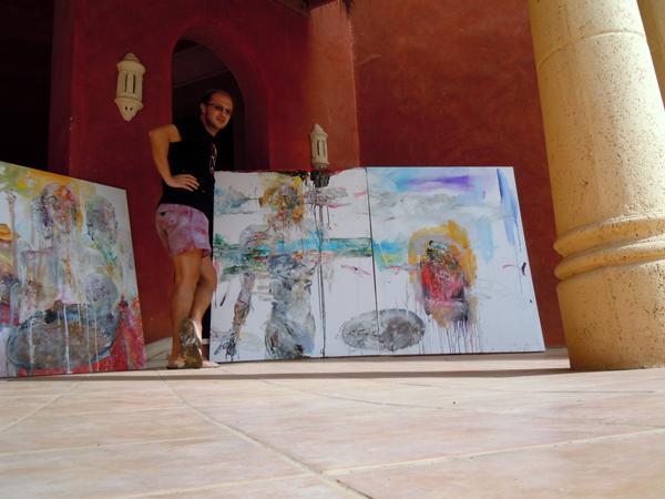 Cristian Sida la Simpozionul internațional de pictură de la Sharm el Sheikh
