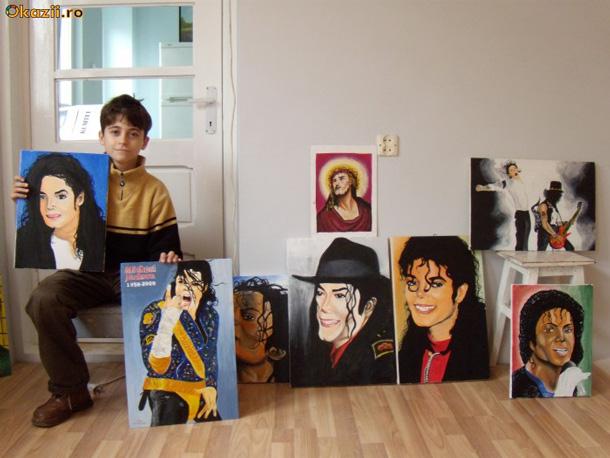 Tablouri pictate în ulei, orice artist. Ex: Michael Jackson