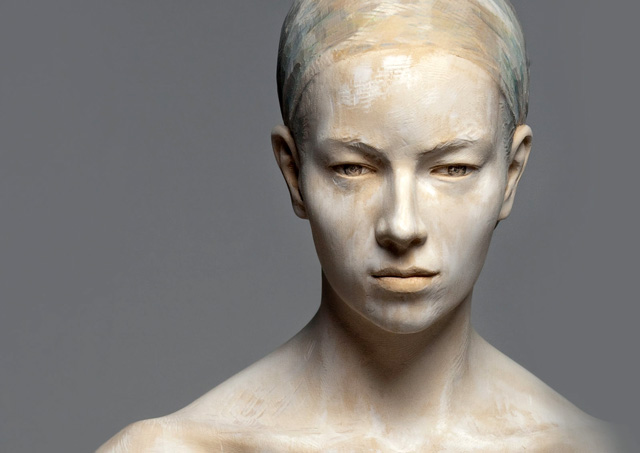 Ghostly sculptures of Bruno Walpoth