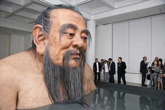 Giant Life-Like Statue of Confucius