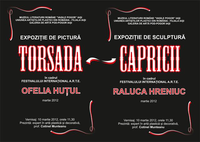 """Ofelia Huțul, Raluca Hreniuc """"TORSADA – CAPRICII"""" @ Muzeul Literaturii Române """"Vasile Pogor"""""""