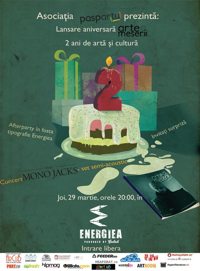Paspartu şi Revista Arte & Meserii sărbătoresc doi ani de artă şi cultură