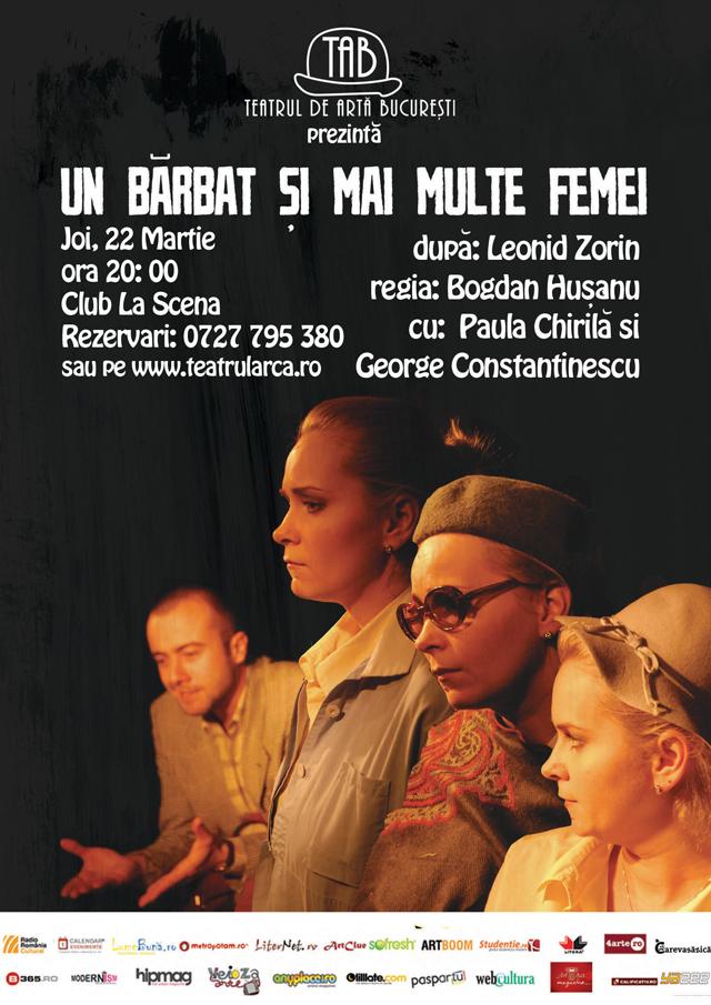 """""""Un bărbat și mai multe femei"""" în club La Scena"""