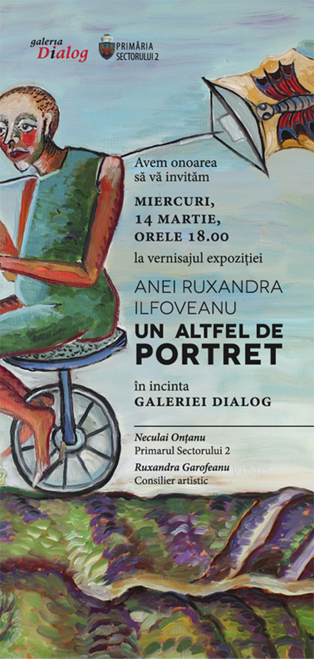 """Ana Ruxandra Ilfoveanu, """"Un altfel de portret"""", Galeria Dialog, București"""