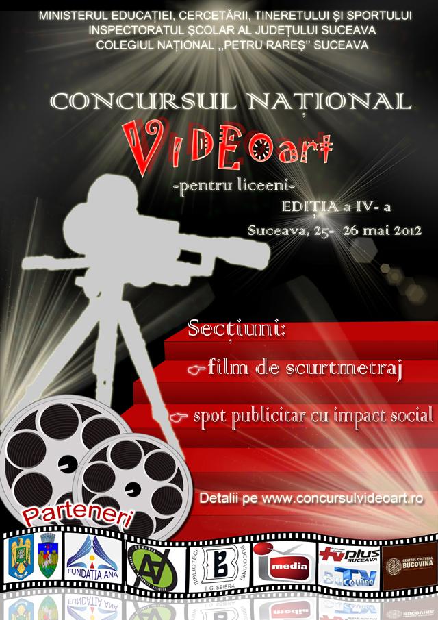 Concursul Național Video Art pentru liceeni, ediția a IV-a 2012