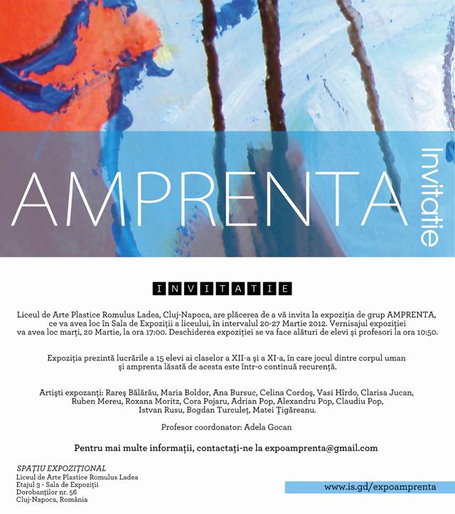 AMPRENTA – Liceul de Arte Plastice Romulus Ladea, Cluj-Napoca