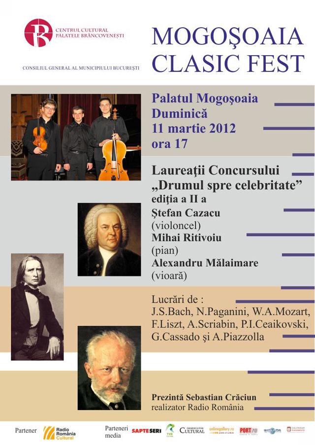"""Mogoşoaia Clasic Fest – rampă de lansare pentru laureaţii Concursului """"Drumul spre celebritate"""""""