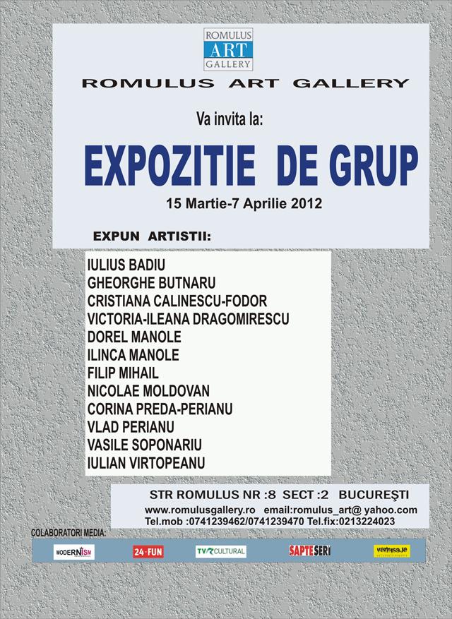 EXPOZITIE DE GRUP la Romulus Art Gallery