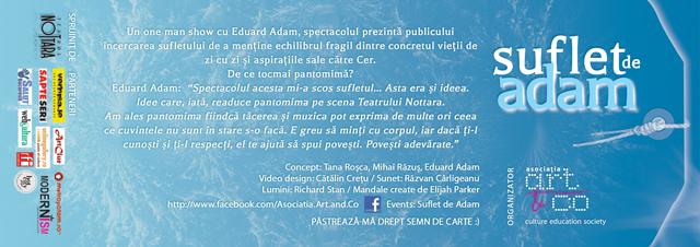 Premieră Suflet de Adam, pantomimă one man show @ Nottara