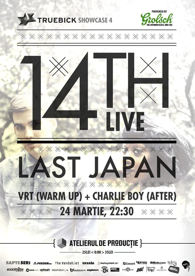 Truebick no.4 aduce pentru prima oară în București 14th (LIVE) și Last Japan @ Atelierului de Productie