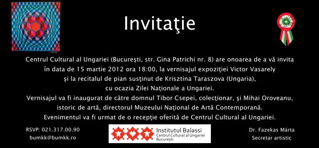 Expoziție Victor Vasarely @ Centrul Cultural al Republicii Ungare