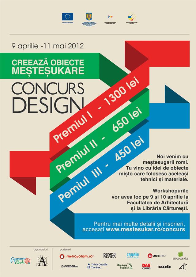 Creează obiecte meșteșukare! concurs de design de obiect