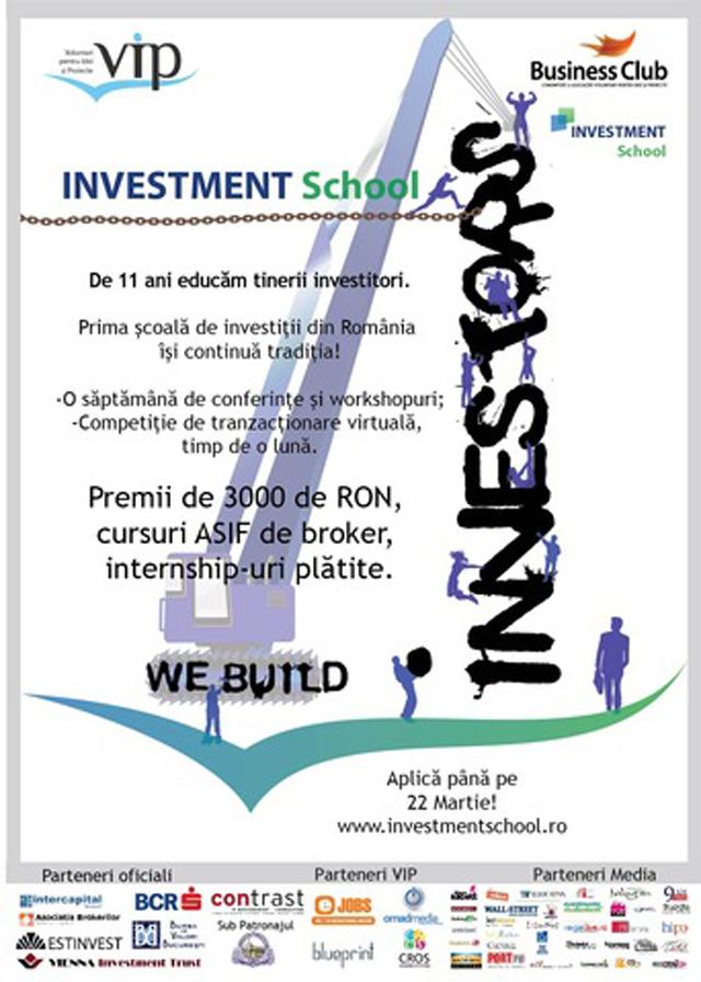 Investment School 2012 – Ține pasul cu elita investitorilor
