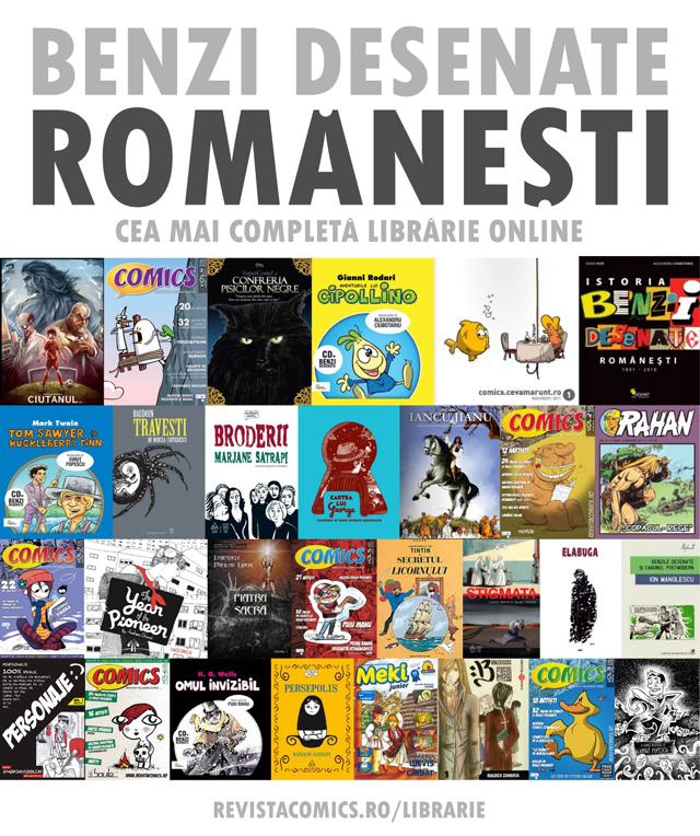 Librărie online de benzi desenate românești
