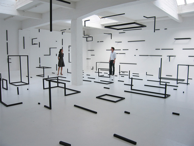 Geometric Rooms by Esther Stocker