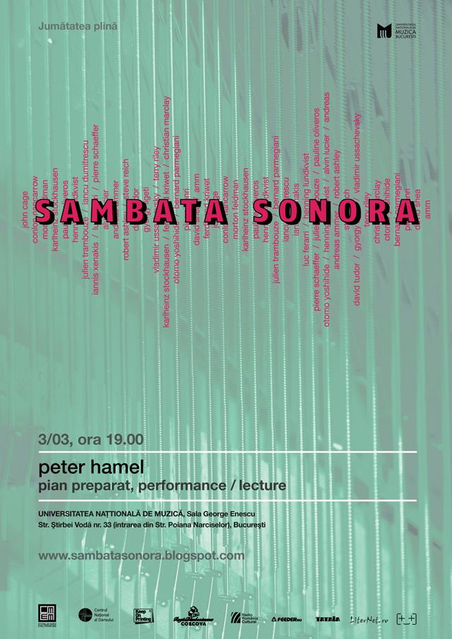 SÂMBĂTA SONORA – PETER HAMEL, pian preparat @ Universitatea Naţională de Muzică, Sala George Enescu