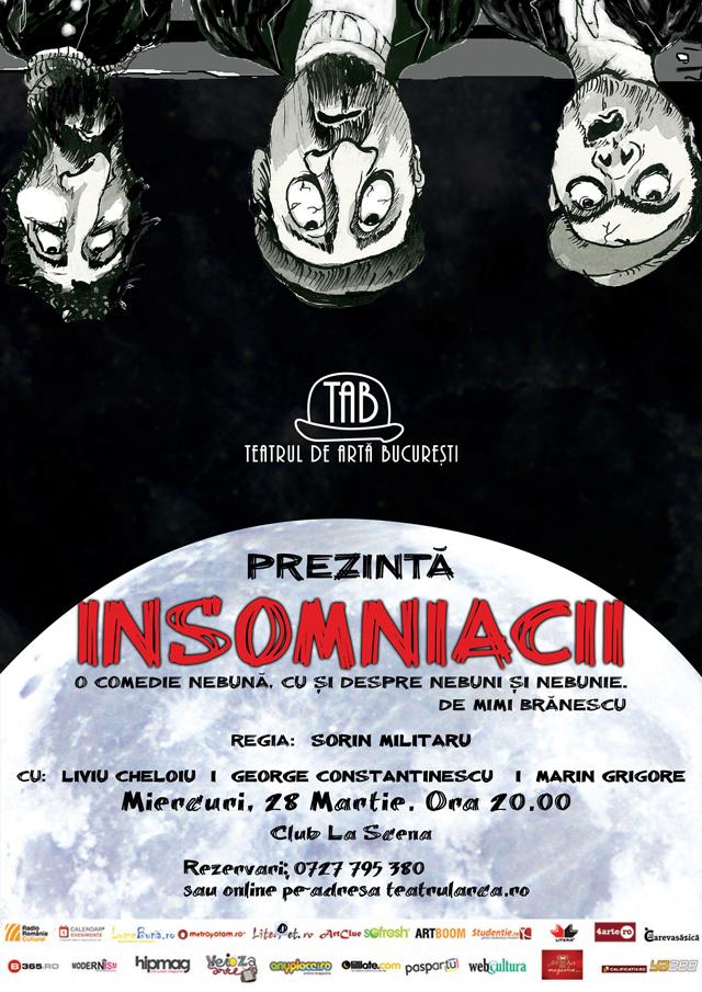 """Spectacol de teatru: """"Insomniacii"""""""