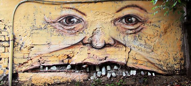 The Living Wall: Street Art by Nikita Nomerz