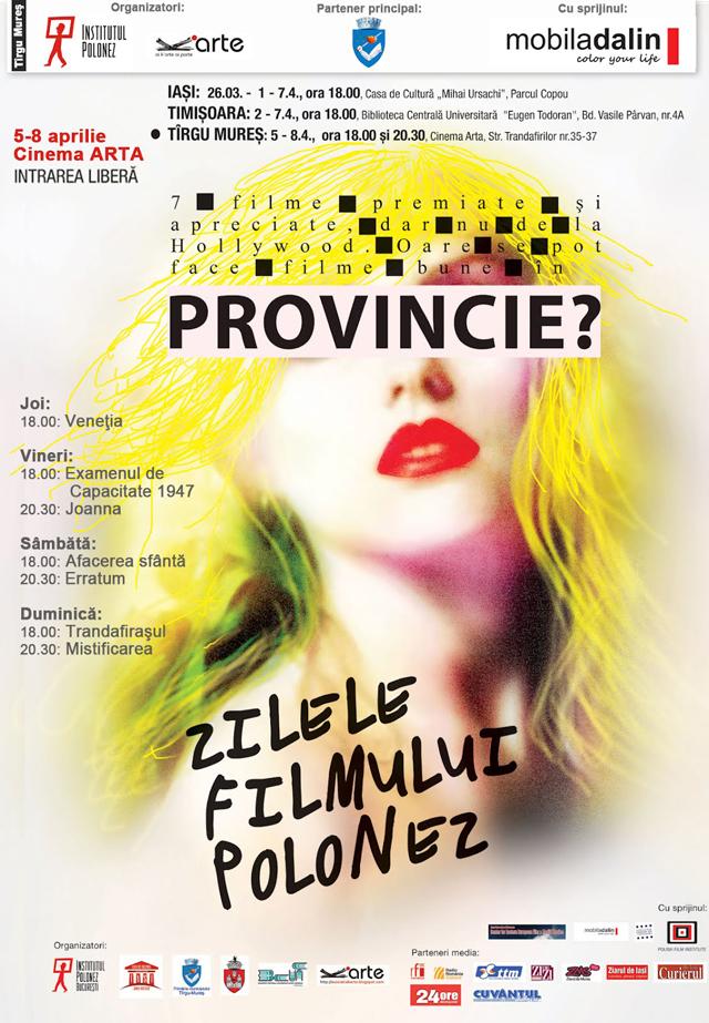 Zilele Filmului Polonez la Tîrgu Mureş, editia a doua: 5-8 aprilie, la Cinema ARTA