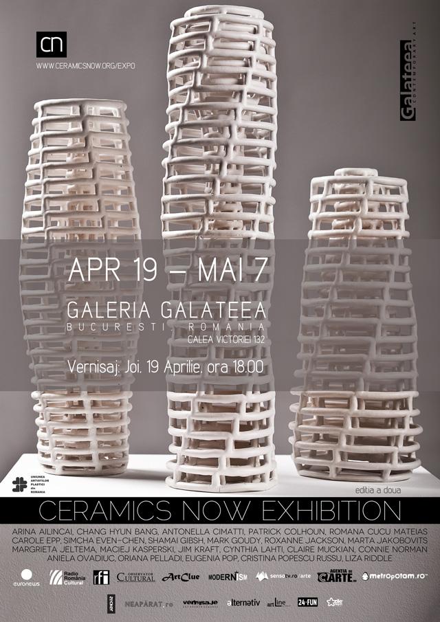 Ceramics Now Exhibition – Expoziţie internaţională de ceramică @ Galeria Galateea, Bucureşti