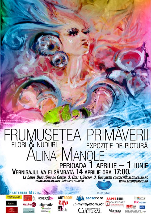"""Alina Manole, """"Frumuseţea primăverii"""" @ salonul Le Lotus Bleu, București"""