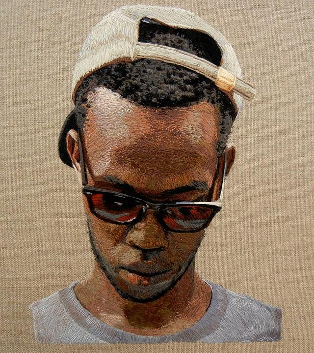 Embroidered portraits by Daniel Kornrumph