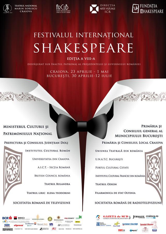 Festivalul Internațional Shakespeare, Craiova-București 2012