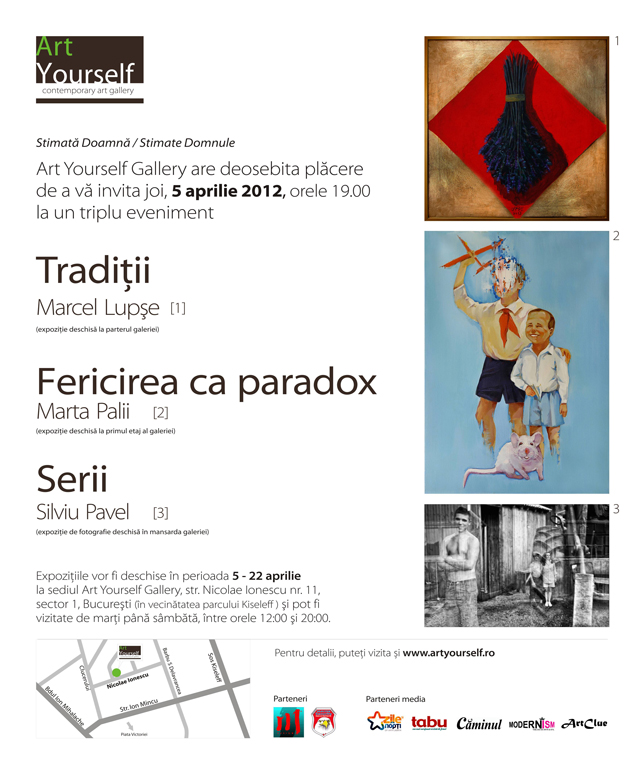 Marcel Lupșe, Marta Palii, Silviu Pavel @ Art Yourself Gallery