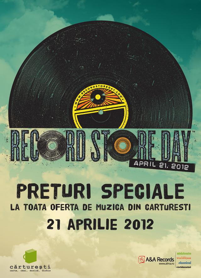 E oficial: A&A Records și Cărturești te invită să sărbătorești Record Store Day.