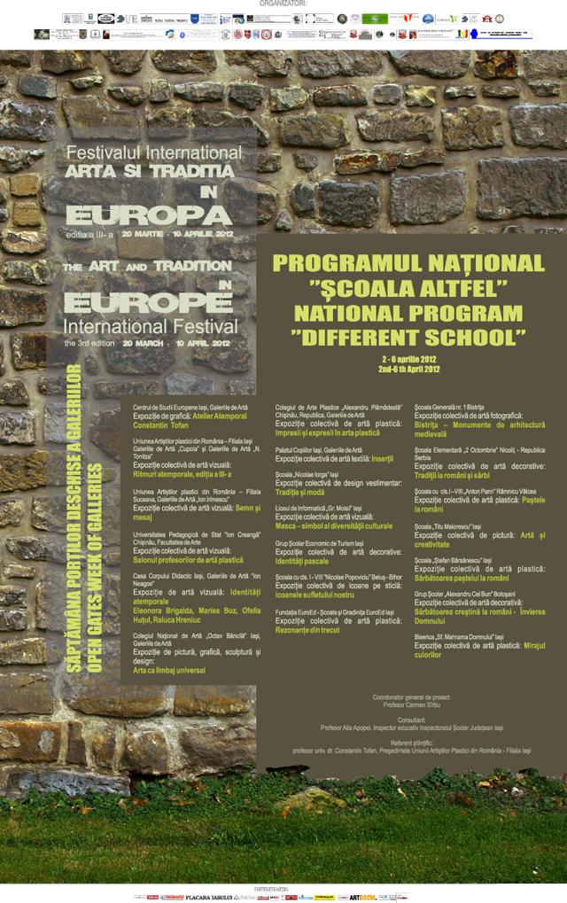 Săptămâna porților deschise a galeriilor din Iași @ Școala Altfel