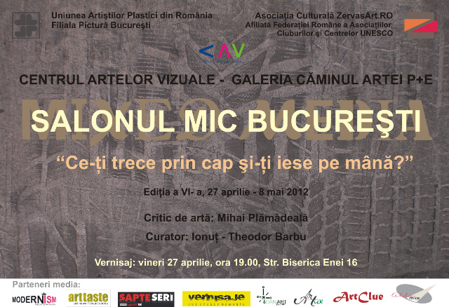 SALONUL MIC BUCUREŞTI (SMB6 mixed media), ediţia a VI-a, 2012
