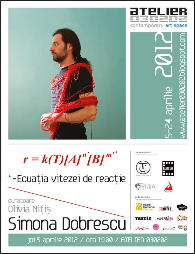 "Simona Dobrescu, ""Ecuația vitezei de reacție*"" @ ATELIER 030202"