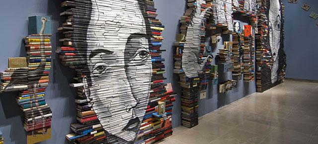 Book Paintings by Mike Stilkey