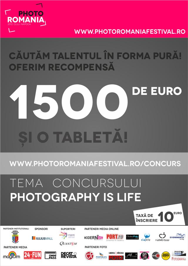 Căutăm talentul în forma fotografică, oferim recompensă 1500 de euro și o tabletă