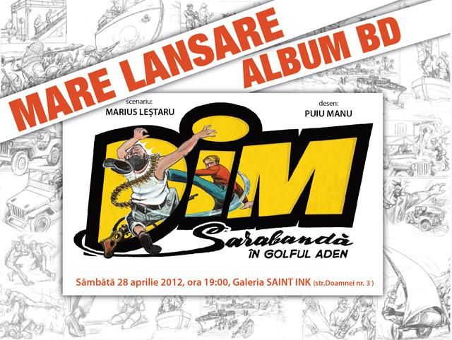 Lansare album de benzi desenate: Dim Dunăreanu