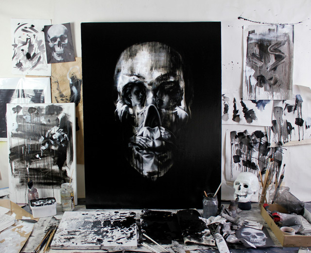 New Optical Illusion Skull Portraits by Tom French