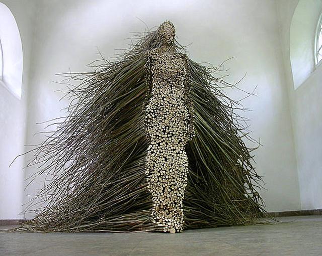 Figurative Willow Branch Sculpture by Olga Ziemska