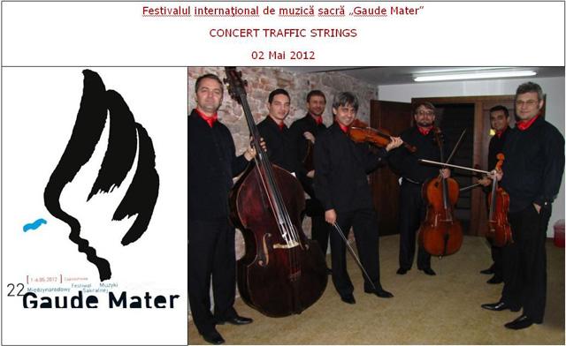 """TRAFFIC STRINGS în cadrul festivalului """"Gaude Mater"""" Cracovia"""